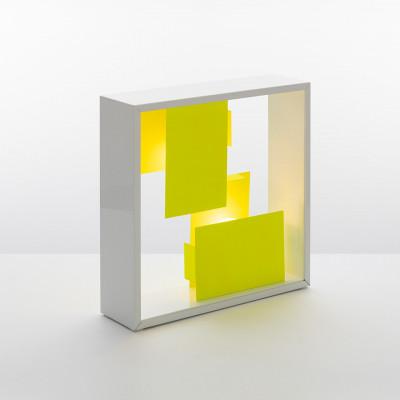 Artemide - Vintage - Vintage Lampen - Fato TL Bi-Color - Zweifarbig Tishlampe - Weiß/gelb - LS-AR-S0048010A03