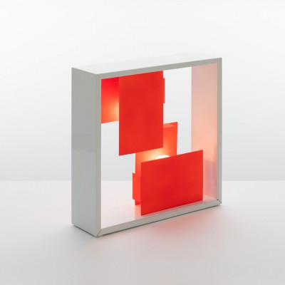 Artemide - Vintage - Vintage Lampen - Fato TL Bi-Color - Zweifarbig Tishlampe - Weiß/Orange - LS-AR-S0048010A02