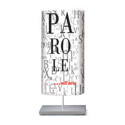 Artempo - Castor and Pollux - Artempo Castor e Pollux Serie Print TL L Design Nachtischlampe - Words  - LS-AT-889