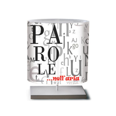 Artempo - Castor and Pollux - Artempo Castor e Pollux Serie Print TL S Tischlampe - Words  - LS-AT-489