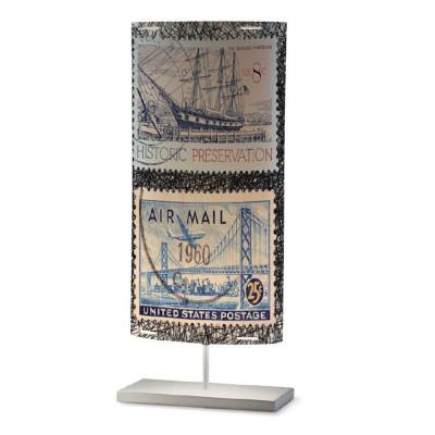 Artempo - Castor and Pollux - Artempo Castor e Pollux Serie Stamps TL L Vintage Tischlampe - Briefmarken dekoriert 1 - LS-AT-811