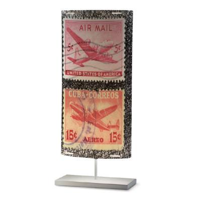 Artempo - Castor and Pollux - Artempo Castor e Pollux Serie Stamps TL L Vintage Tischlampe - Briefmarken dekoriert 7 - LS-AT-813