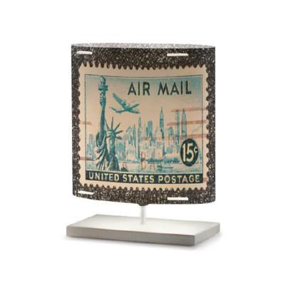 Artempo - Castor and Pollux - Artempo Castor e Pollux Serie Stamps TL S Vintage Nachttischlampe - Briefmarken dekoriert 11 - LS-AT-432
