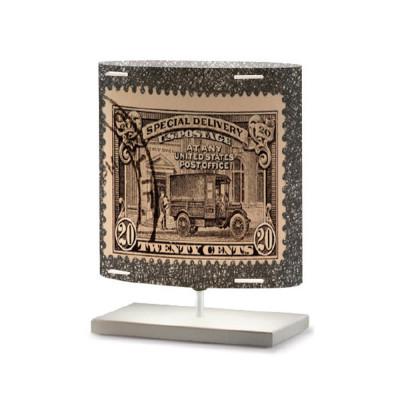 Artempo - Castor and Pollux - Artempo Castor e Pollux Serie Stamps TL S Vintage Nachttischlampe - Briefmarken dekoriert 12 - LS-AT-444