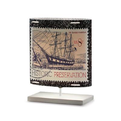 Artempo - Castor and Pollux - Artempo Castor e Pollux Serie Stamps TL S Vintage Nachttischlampe - Briefmarken dekoriert 2 - LS-AT-437