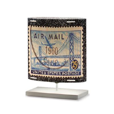 Artempo - Castor and Pollux - Artempo Castor e Pollux Serie Stamps TL S Vintage Nachttischlampe - Briefmarken dekoriert 3 - LS-AT-433