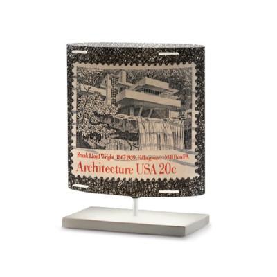 Artempo - Castor and Pollux - Artempo Castor e Pollux Serie Stamps TL S Vintage Nachttischlampe - Briefmarken dekoriert 5 - LS-AT-440