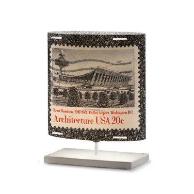 Artempo - Castor and Pollux - Artempo Castor e Pollux Serie Stamps TL S Vintage Nachttischlampe - Briefmarken dekoriert 6 - LS-AT-441