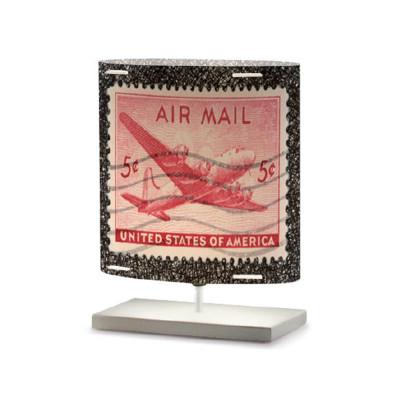 Artempo - Castor and Pollux - Artempo Castor e Pollux Serie Stamps TL S Vintage Nachttischlampe - Briefmarken dekoriert 8 - LS-AT-436