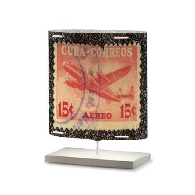 Artempo - Castor and Pollux - Artempo Castor e Pollux Serie Stamps TL S Vintage Nachttischlampe - Briefmarken dekoriert 9 - LS-AT-442