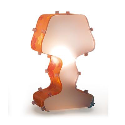 Artempo - Fancy - Artempo Fancy TL Moderne Tischlampe - Gedruckt Gelb/Orgnge Acrilux - LS-AT-380-G