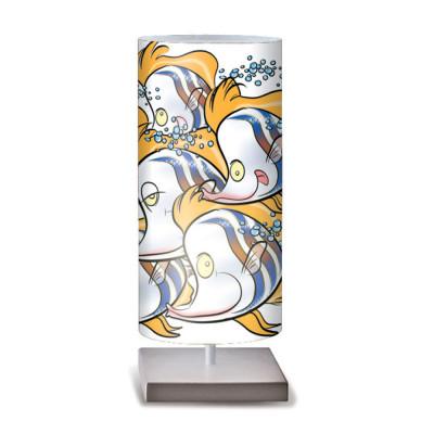 Artempo - Idra - Artempo Idra Serie Print TL Dekorierte tischlampe - Fisch Zierde - LS-AT-506