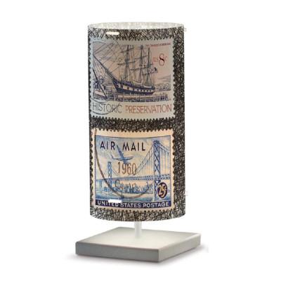 Artempo - Idra - Artempo Idra Serie Stamps TL Tischlampe - Briefmarken dekoriert 1 - LS-AT-511