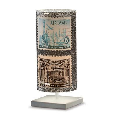 Artempo - Idra - Artempo Idra Serie Stamps TL Tischlampe - Briefmarken dekoriert 10 - LS-AT-514