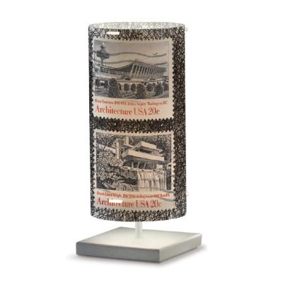 Artempo - Idra - Artempo Idra Serie Stamps TL Tischlampe - Briefmarken dekoriert 4 - LS-AT-512