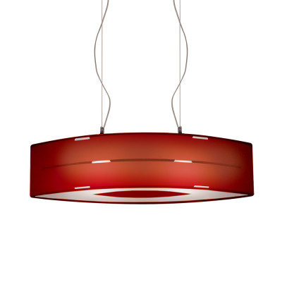 Artempo - Pendant lamps in Acrilux - Flash SP - Pendellampe - Acrilux Rot Satin - LS-AT-102-R
