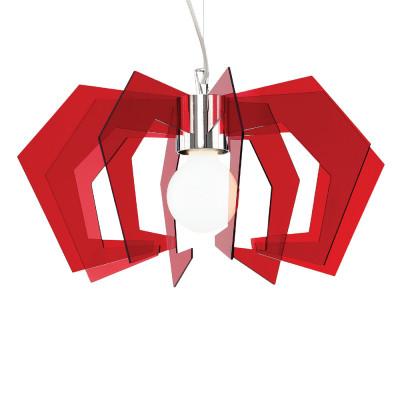 Artempo - Spider - Artempo Mini Spider SP Moderne Pendellampe - Acrilux Rot transparent - LS-AT-122-R