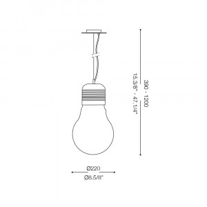 Ideal Lux - Bulb - Ideal Lux Luce SP1 Cromo SMALL