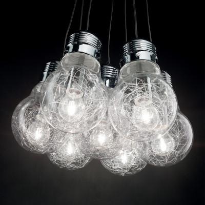 Ideal Lux - Bulb - Luce Bianco SP7 - Aufhängung mit Glühbirnenförmigen Diffusoren
