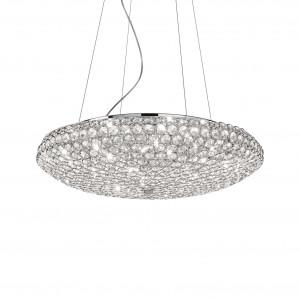 Ideal Lux - Diamonds - King SP12 - Elegante Pendellampe mit Kristallen
