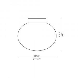 Ideal Lux - Eclisse - Candy PL1 D40 - Deckenlampe mit Glas-Diffusor