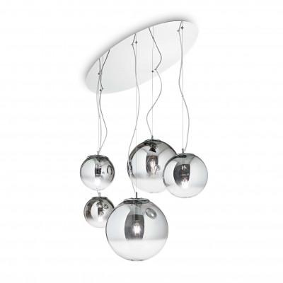 Ideal Lux - Eclisse - MAPA SP5 - Leuchter mit fünf kugelförmigen Diffusoren - Chrom - LS-IL-140759