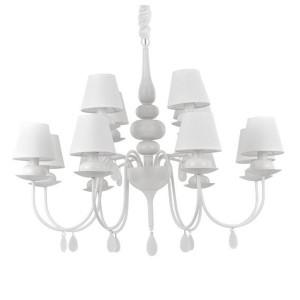 Ideal Lux - Provence - Blanche SP12 - Klassischer Kronleuchter mit zwölf Lampenschirmen