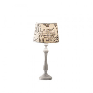 Ideal Lux - Provence - Coffee TL1 Small - Tischlampe im Vintage-Stil
