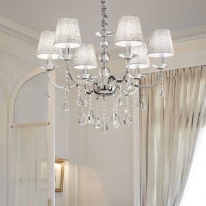 Ideal Lux - Provence - Pantheon SP6 - Aufhängung mit sechs Lichtpunkten und dekorierten Lampenschirme