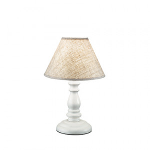 Ideal Lux - Provence - Provence TL1 Small - Tischlampe aus Holz und Stoff