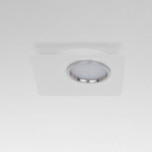 Lumen Center - Brick e Brac - Brick Quadro 1 PL - Quadratische LED-Deckenleuchte  - Feinstruktur weiß - LS-LC-BRIQ1105