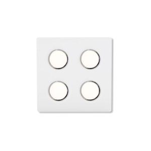 Lumen Center - Brick e Brac - Brick Quadro 4 PL - Quadratische Deckenleuchte mit vier LED-Lampen - Feinstruktur weiß - LS-LC-BRIQ4105