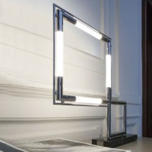 Lumen Center - Classic collection - Quadro PT - Design LED-Tischlampe - Chrom - LS-LC-QUADL160N