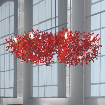 Lumen Center - Coral - Supercoral SP 8L - Grosse Glas-Kronleuchter