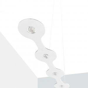 Lumen Center - Flat - Flat 05 SP LED M - LED Hängeleuchte - Feinstruktur weiß -  - Superwarm - 2700 K - Diffused