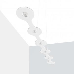 Lumen Center - Flat - Flat 06 SP LED L - LED Pendelleuchte - Feinstruktur weiß -  - Superwarm - 2700 K - Diffused