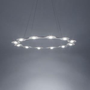 Lumen Center - Flat - Flat Ring 12 SP - Kronleuchter mit zwölf Lichtpunkten - Aluminium eloxiert -  - Superwarm - 2700 K - Diffused
