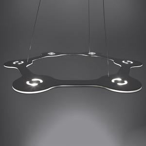 Lumen Center - Flat - Flat Ring 6 SP - Moderne Pendelleuchte mit sechs Lichtpunkten - Aluminium eloxiert -  - Superwarm - 2700 K - Diffused