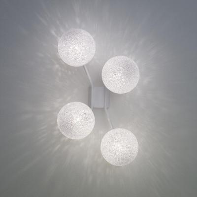 Lumen Center - Iceglobe Micro - Iceglobe Micro A4 AP - Lampe mit 4 Elementen - Weiß matt - LS-LC-IGWA4106