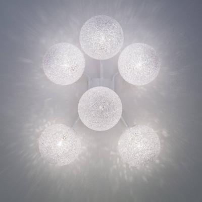 Lumen Center - Iceglobe Micro - Iceglobe Micro A6 AP - Lampe mit 6 Elementen - Weiß matt - LS-LC-IGWA6106