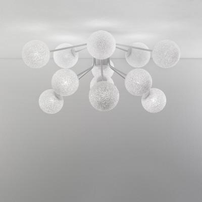 Lumen Center - Iceglobe Micro - Iceglobe Micro P PL - Deckenlampe mit 12 Lichtpunkten - Weiß matt - LS-LC-IGWP106
