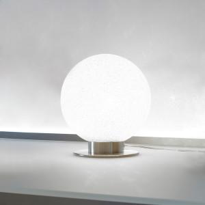 Lumen Center - Iceglobe Mini - Iceglobe Mini 02 TL S - Kleine Tischlampe - Nickel satiniert - LS-LC-IG02P