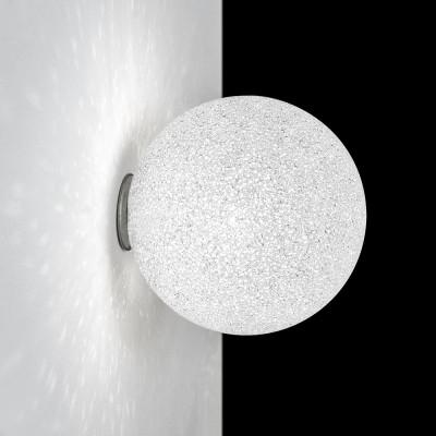 Lumen Center - Iceglobe Mini - Iceglobe Mini 21 AP PL - Leuchte mit kugelförmigem Diffusor - Nickel satiniert - LS-LC-IG21P