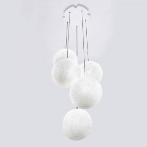 Lumen Center - Iceglobe Mini - Iceglobe Mini Bubble SP 5 S - Hängeleuchte mit 5 Lichtpunkten - Nickel satiniert - LS-LC-IGBUB25