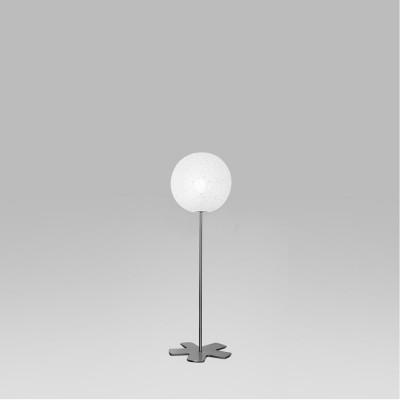 Lumen Center - Iceglobe - Iceglobe 09 PT S - Stehlampe mit kugelförmigem Diffusor - Nickel satiniert - LS-LC-IG09