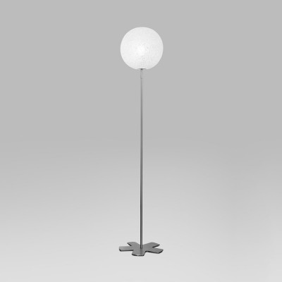 Lumen Center - Iceglobe - Iceglobe 12 PT S - Stehlampe mit kugelförmigem Diffusor - Nickel satiniert - LS-LC-IG12