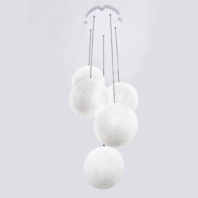 Lumen Center - Iceglobe - Iceglobe Bubble 5 SP - Pendelleuchte mit 5 Diffusoren - Weiß matt - LS-LC-IGBUB35