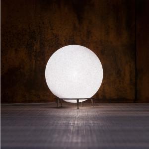 Lumen Center - Iceglobe - Iceglobe Giant 02 TL PT XL - stehleuchte oder tischlampe - Nickel satiniert - LS-LC-IG02G27