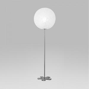 Lumen Center - Iceglobe - Iceglobe L11 PT M - Bodenlampe mit kugelförmigem Diffusor - Nickel satiniert - LS-LC-IG11L