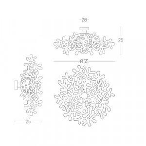 Lumen Center - Leaves - Leaves 21 AP - Wandlampe aus Metall